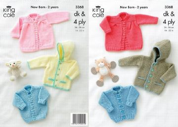 King Cole Jackets and Coat Baby Knitting Pattern- 3368